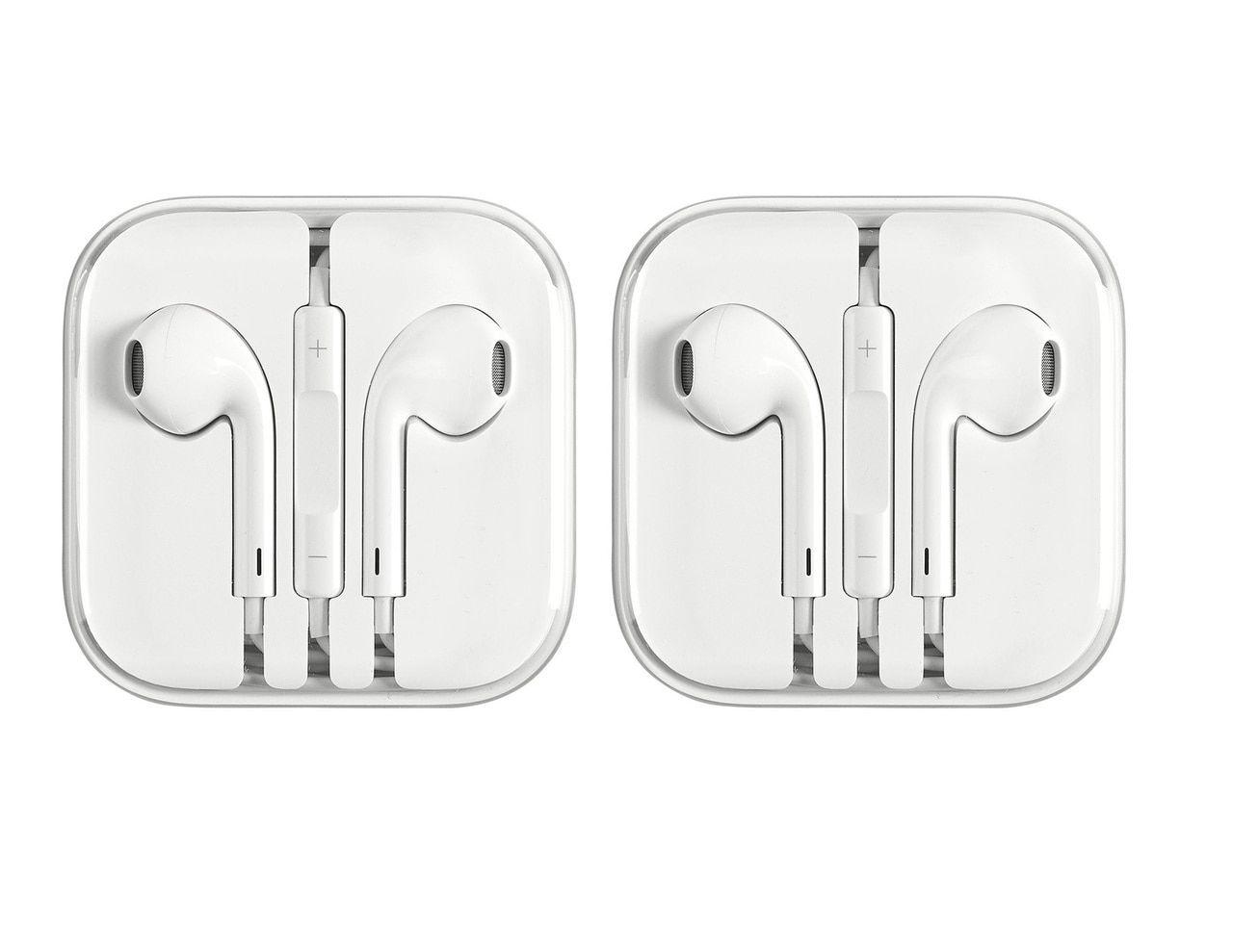 Apple Earpods 3 5 Mm With Remote And Microphone 2 Pack In Bulk Packaging Refurbished Apple Earphones Apple Headphone Apple Iphone 5