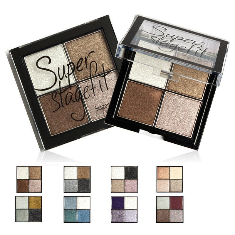 4 Color Eye shadow Pigments Palette Eye Makup Eye Shadow Super Stage Fit By Sugar Box