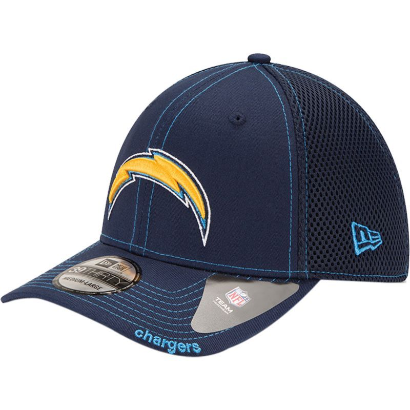 New Era Men S Los Angeles Chargers 39thirty Neoflex Navy Stretch Fit Hat Fitted Hats Navy Hats Los Angeles Chargers