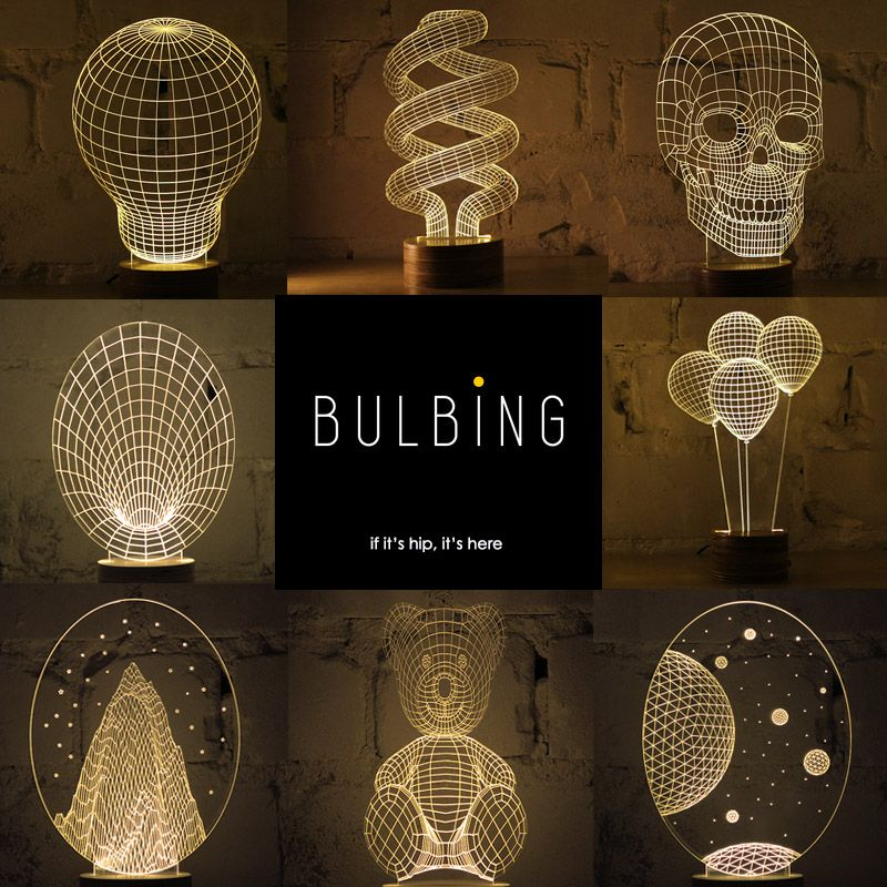 Flat LED Lights Give Off A 3D Glow - Bulbing Lamps from Studio ...