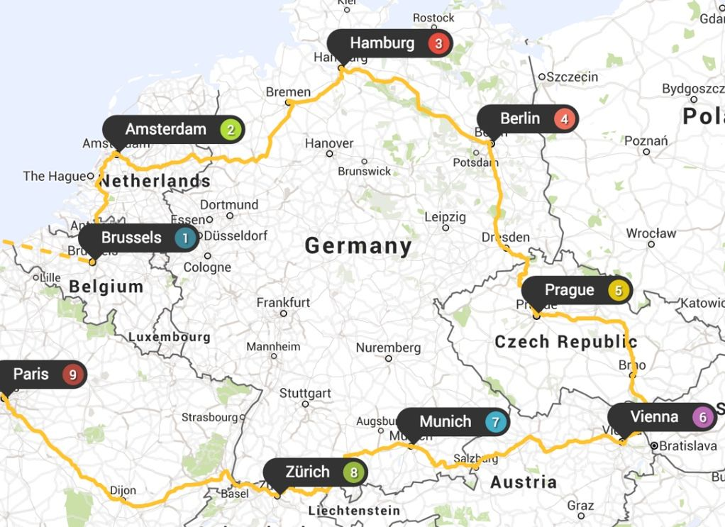 plan your europe trip interactive map Plan your Eurotrip with Eurail Planner, the free rail planning