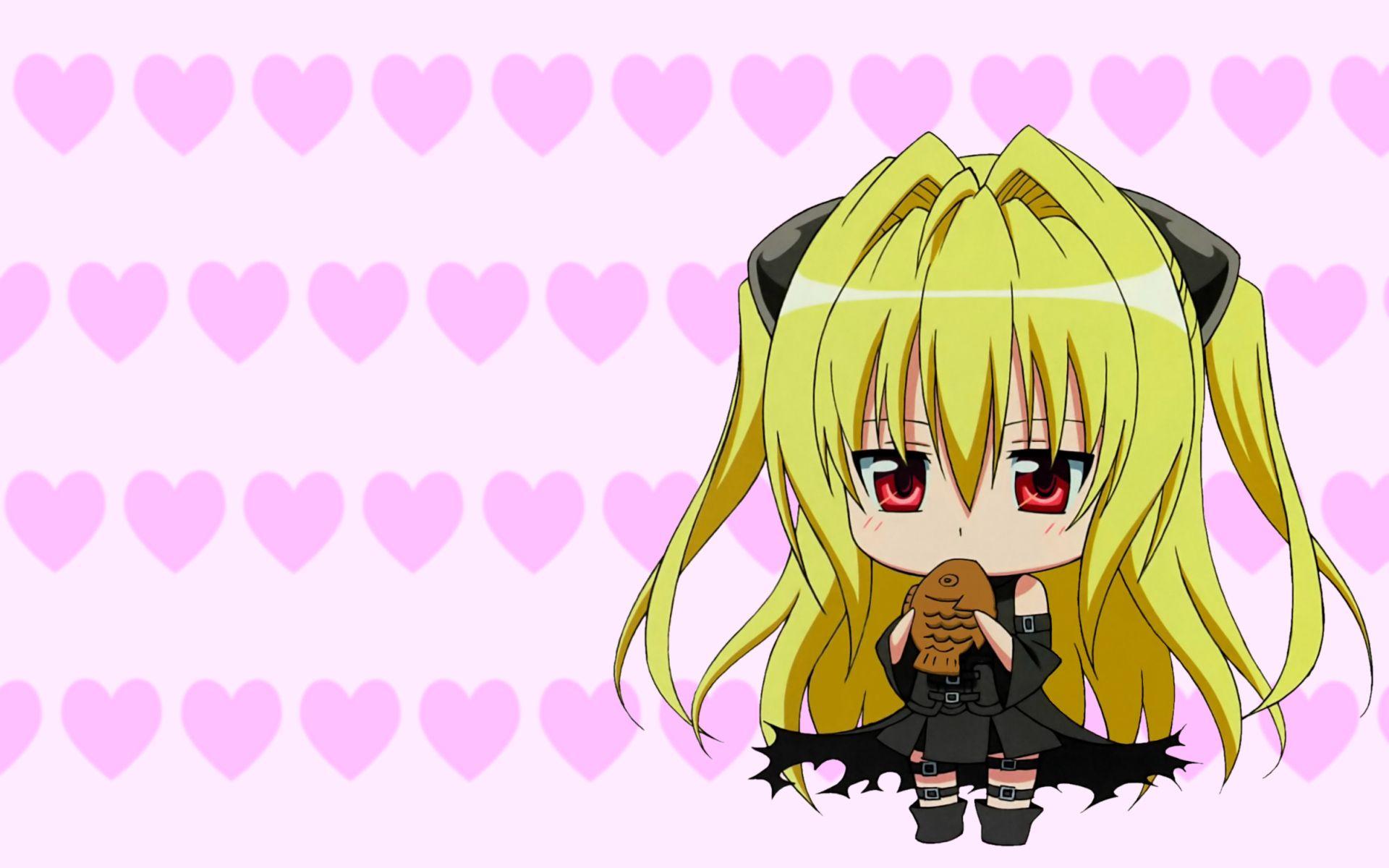 Anime To Love Ru Golden Darkness Chibi Wallpaper Anime In 2019