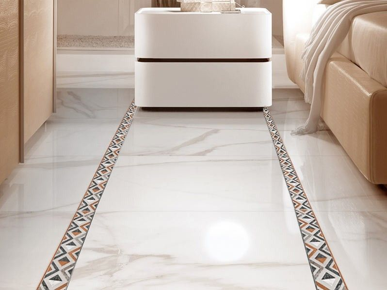 Marmol 500 X 80 mm Shiny Finish Floor Border CTM Bedrooms