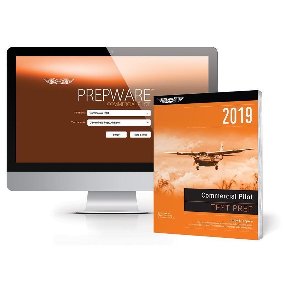 ASA 2019 Commercial Pilot Test Prep Bundle (Book, Download, Online