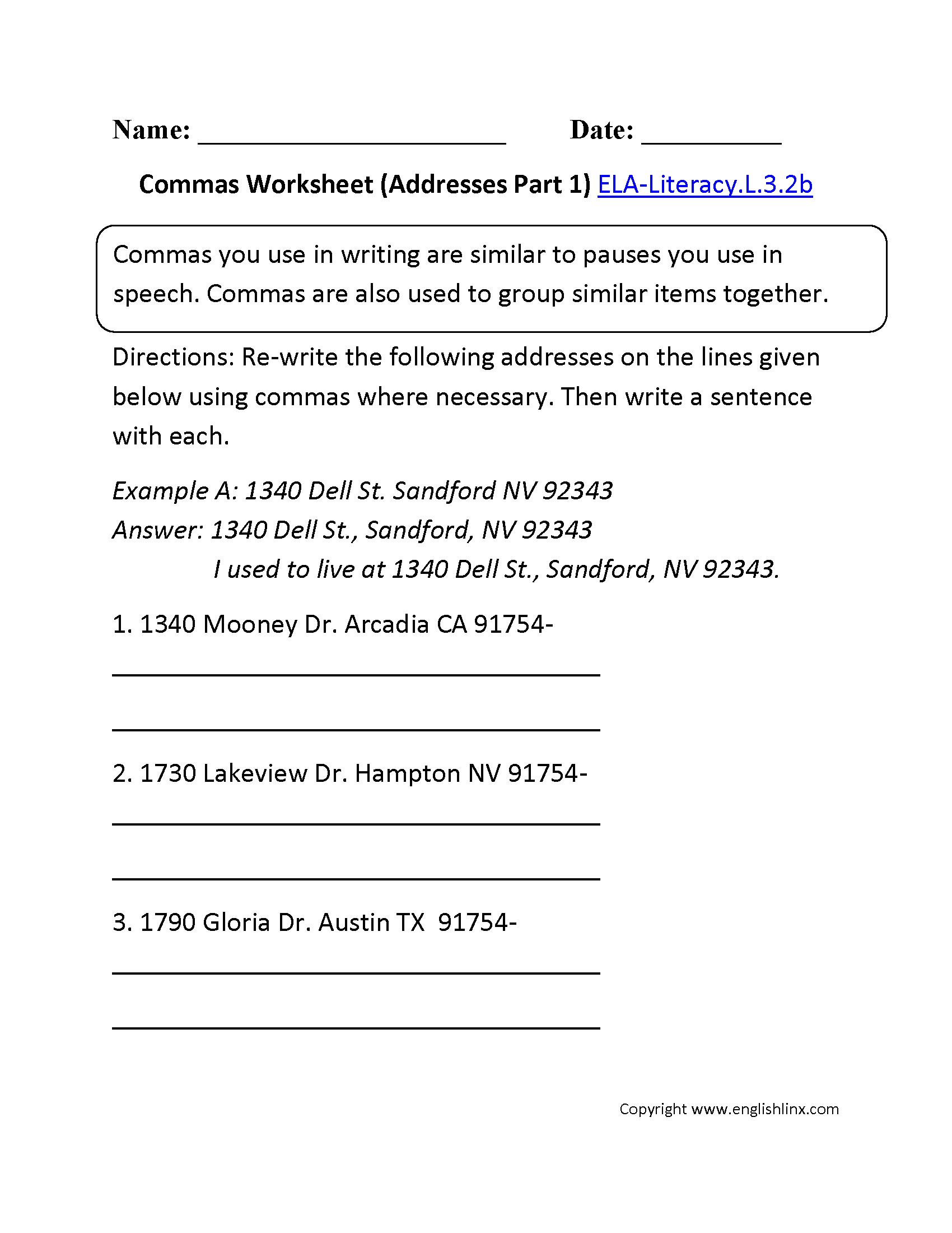 3rd Grade Common Core   Language Worksheets   Common core [ 2200 x 1700 Pixel ]