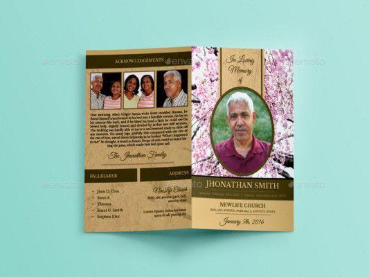 Funeral InDesign Brochure Template | des\' have industrial look ...