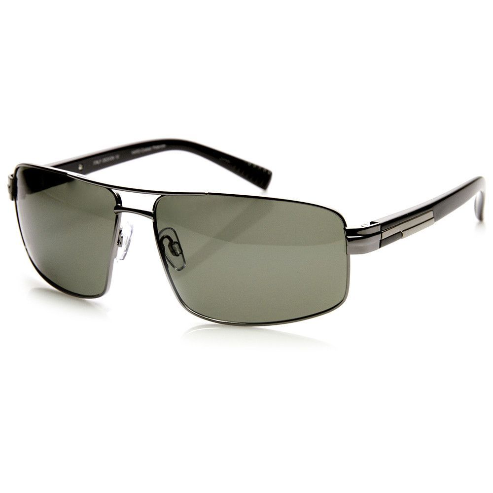 Mens Premium Square Polarized Aviator Sunglasses 9271