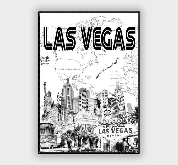 Las vegas wall decor painting famous cities with world map las vegas wall decor painting famous cities with world map background las vegas touristic gumiabroncs Images