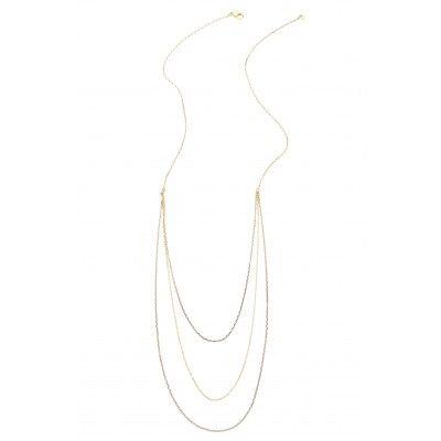 St. Barth Eden Rock Triple Strand White Necklace