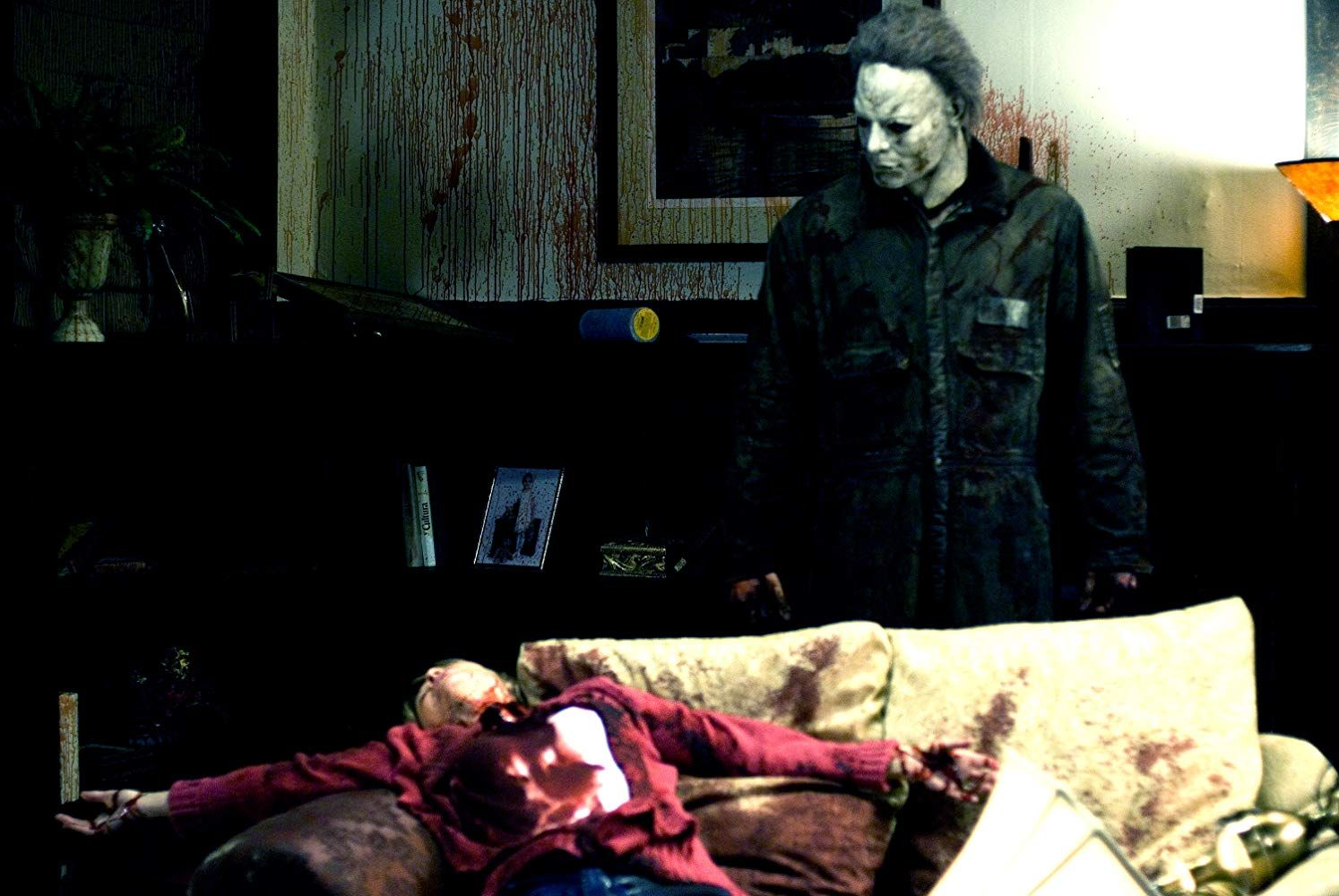 Tyler Mane and Dee Wallace in Halloween (2007)