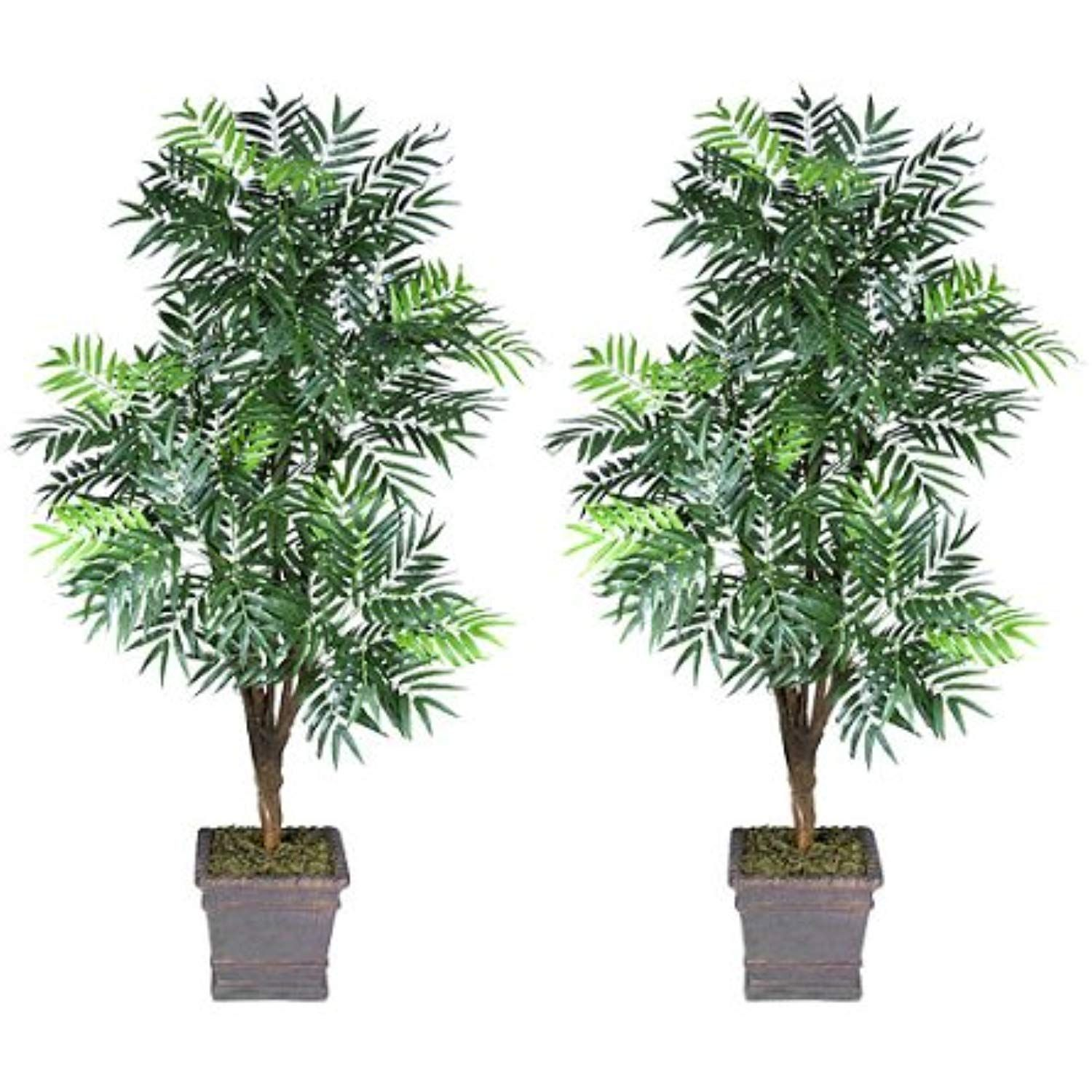 Two 6 Phoenix Palm Artificial Trees With 5 Heads With No Pot See This Great Product This Is An Affiliate Link Artificial Tree Silk Plants Artificial Plants Trees