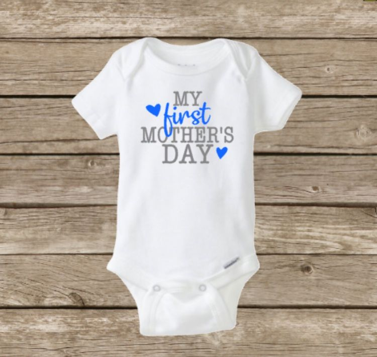 e832b3ca9 My First Mother's Day Baby Boy Girl Onesie Shirt, Holiday, Baby's First,  Baby Shower, Blue Pink, One Piece Body Suit, Mom Mommy Mother, Happy  Mother's Day ...