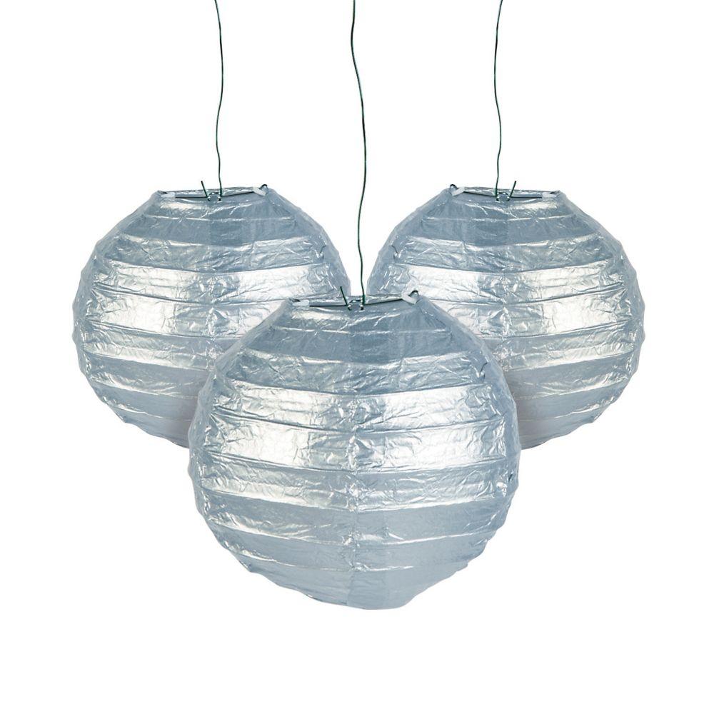 Mini Silver Hanging Paper Lanterns | Hanging paper lanterns, Paper ...