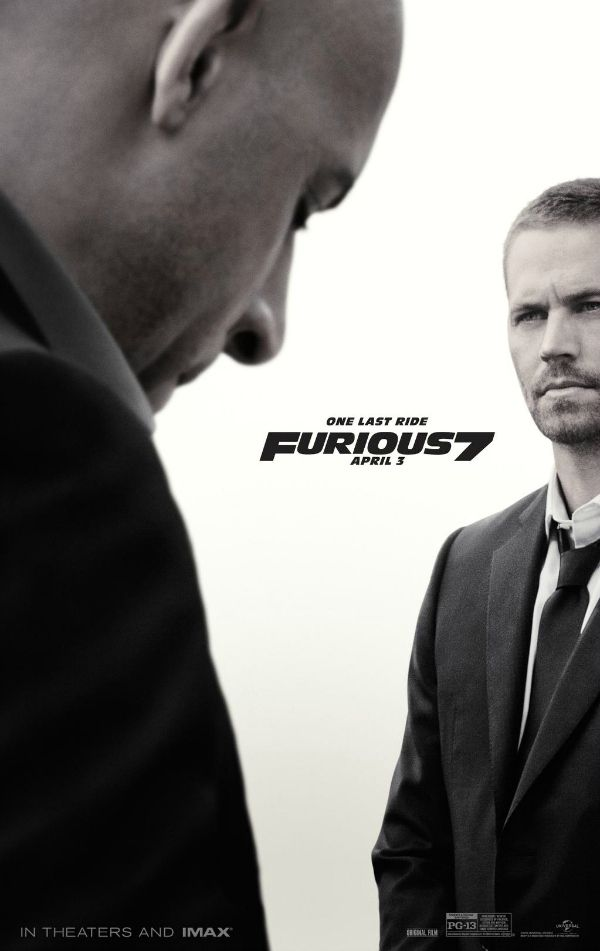 The Furious 7 Poster Is Somber Emotional And Perfect Fast And Furious Furious 7 Movie Furious Movie
