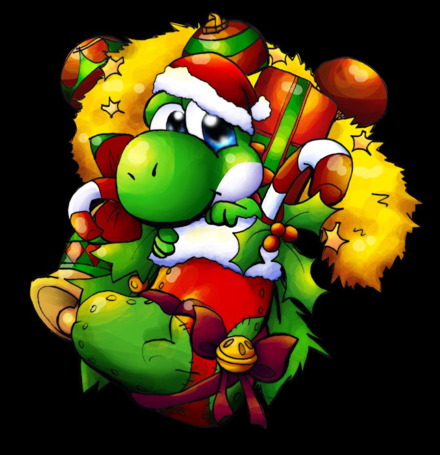 Super Mario Christmas Stocking.Yoshi Yoshi Christmas Stocking By Foxeaf On Deviantart