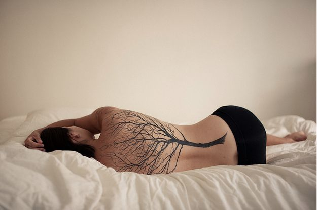 50 Insanely Gorgeous Nature Tattoos. I absolutely adore this full back bare tree tatt