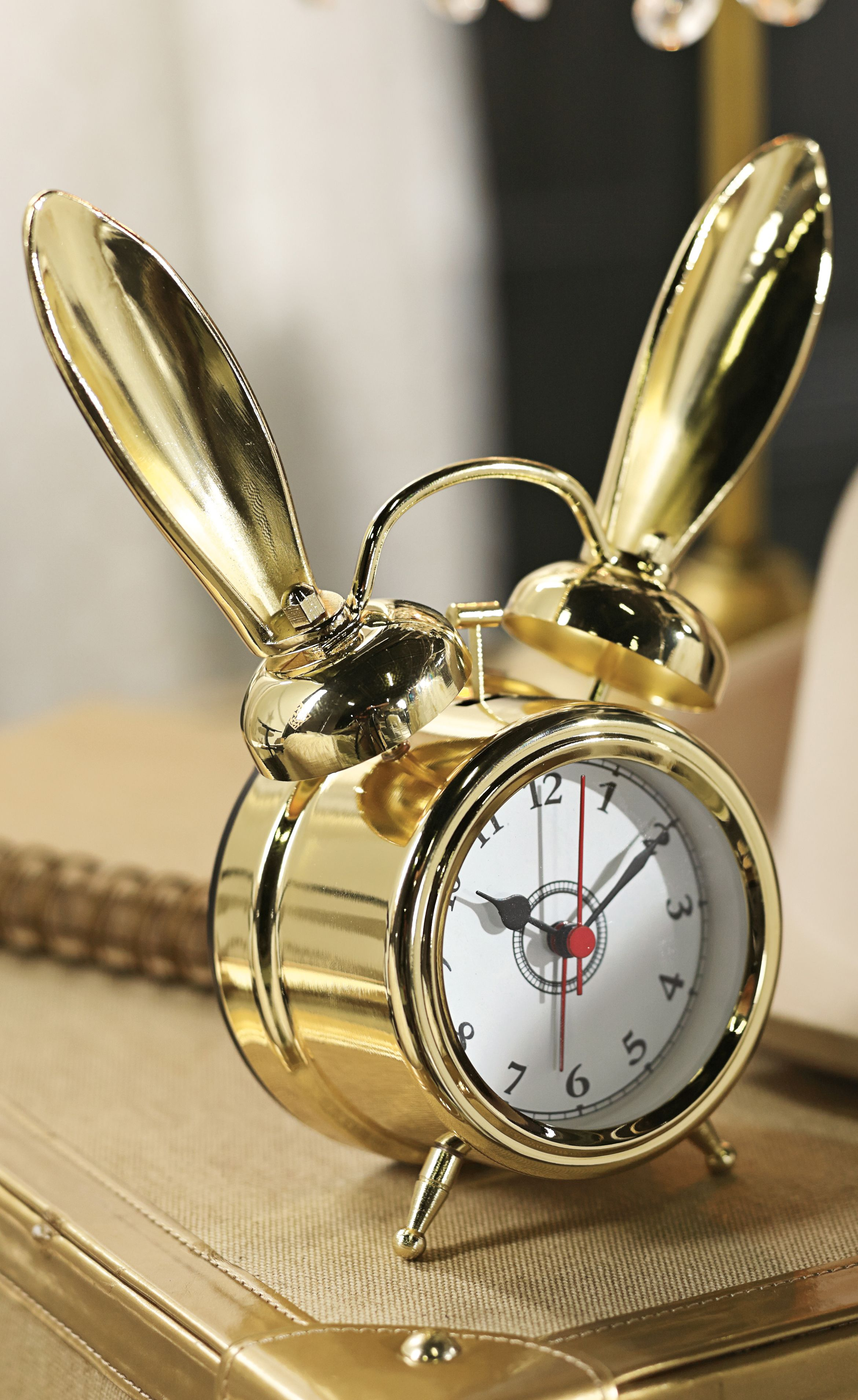 Decorative Bedroom Alarm Clocks: The Emily & Meritt Bunny Alarm Clocks