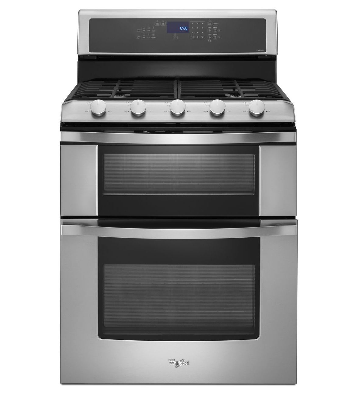 their top of the line gas range w double oven i 39 m going to compare other brands first. Black Bedroom Furniture Sets. Home Design Ideas