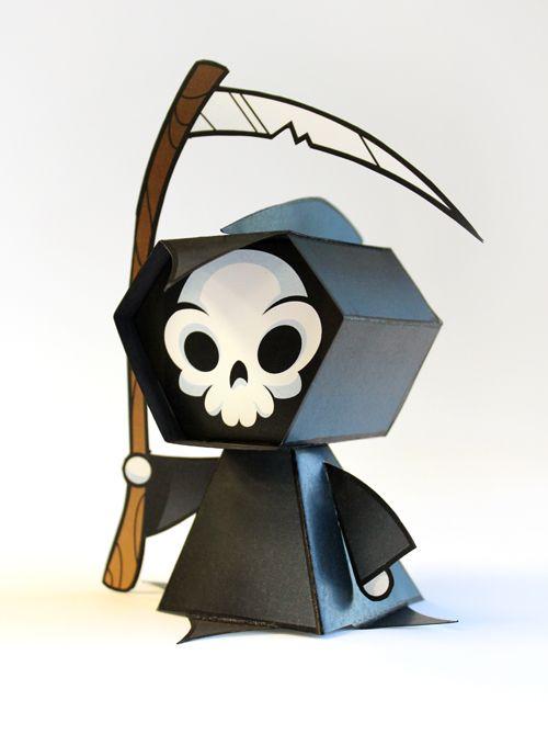 Papercraft imprimible y armable de la representación de la muerte. Manualidades a Raudales.
