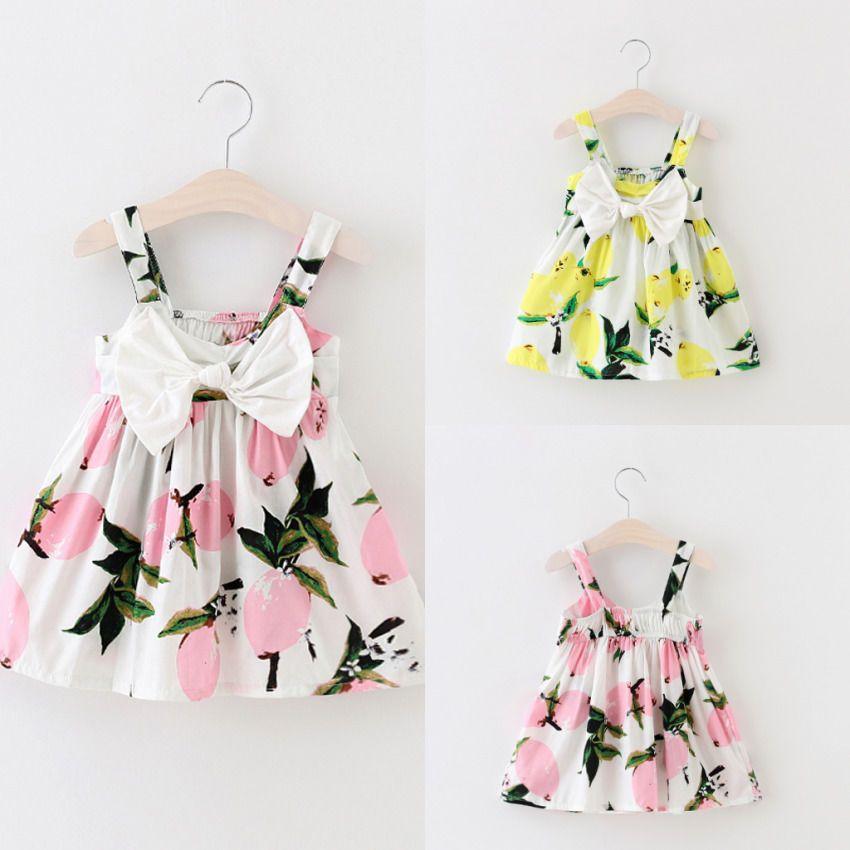 7246c1d25d14 Toddler Infant Kids Baby Girl Summer Floral Party Bowknot Dress ...