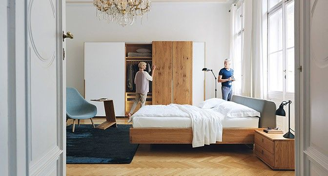 nox schrank f r das schlafzimmer mit solider materialst rke team 7 m nchen interior bett. Black Bedroom Furniture Sets. Home Design Ideas