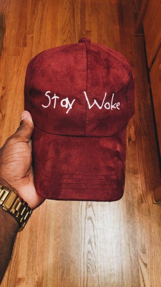 Image of Burgundy Suede Stay Woke Cap