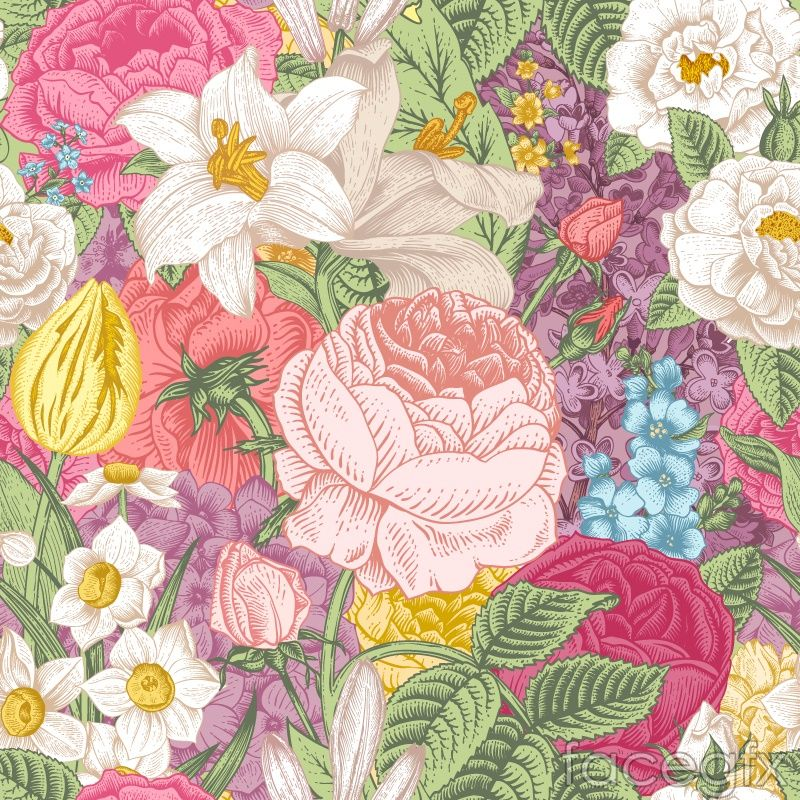 Elegant vintage floral background vector | Freebies! :D | Pinterest