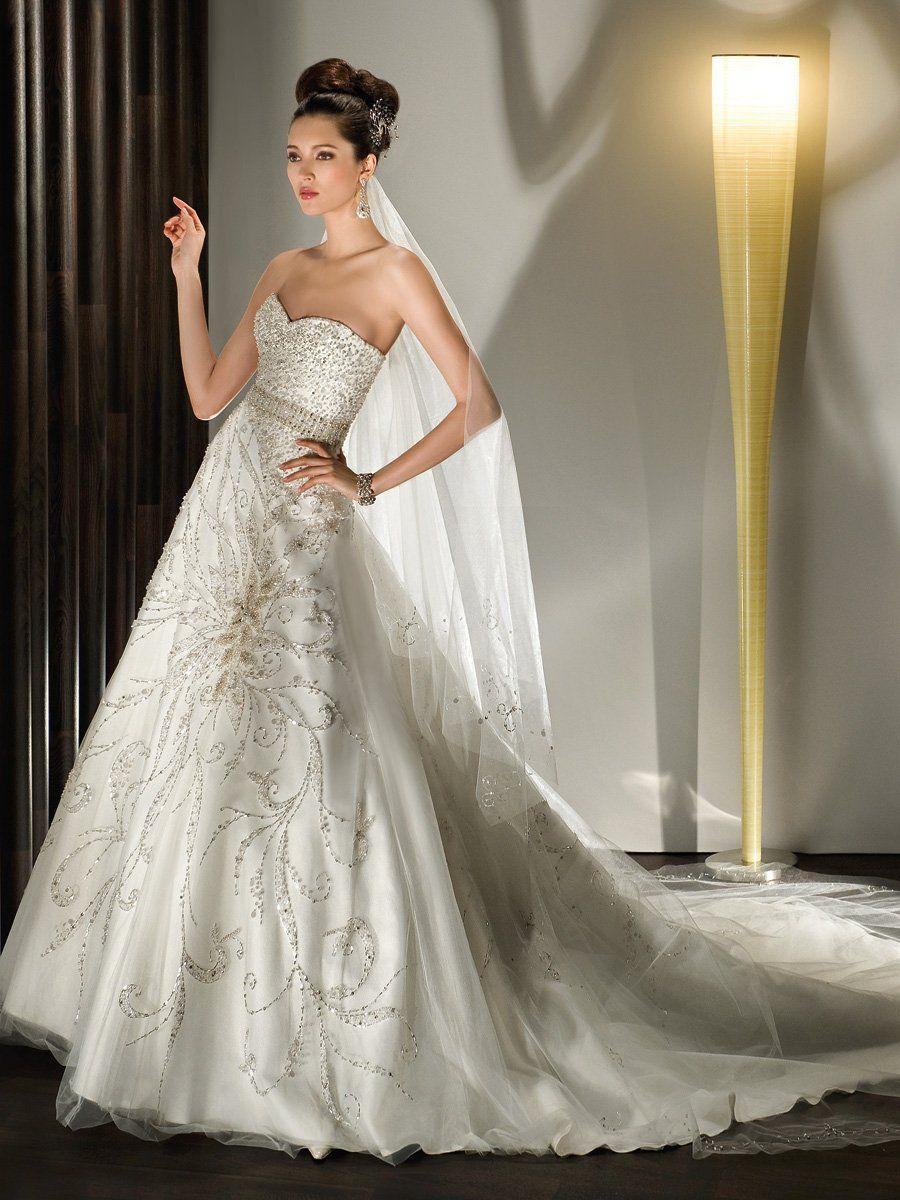Blinged out wedding dress  Demetrios Wedding Dresses Photos by Demetrios  Fashion Bridal