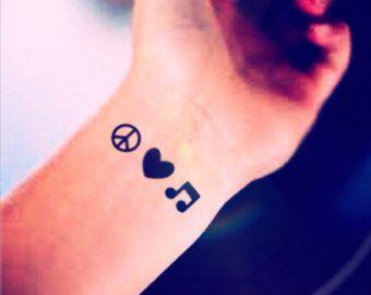 Peace Love Music Tattoo Ideas Small Tattoos Music Tattoos Tattoos