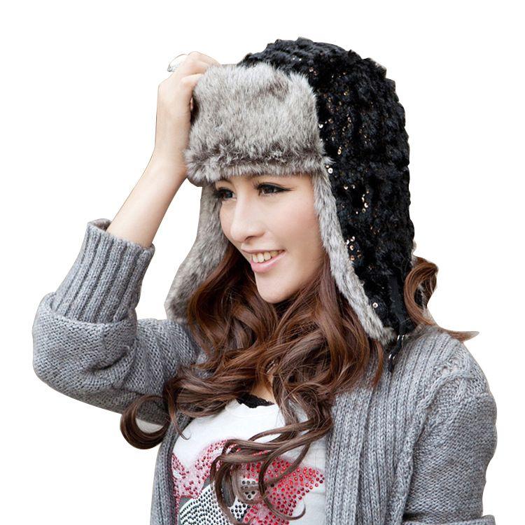 c8e31c793b3 Click to Buy    Hot Sale Bomber Hats Ushanka Russian Hat Fur Winter ...