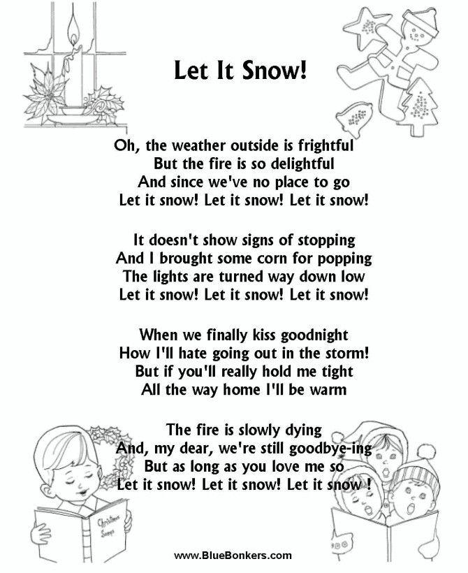 Christmas Song The Gift Lyrics: Let It Snow, Let It Snow Lyrics