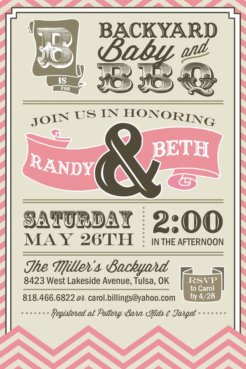 PRINTABLE Couples BBQ Baby Shower Invitation by UrbanFrontiers ...