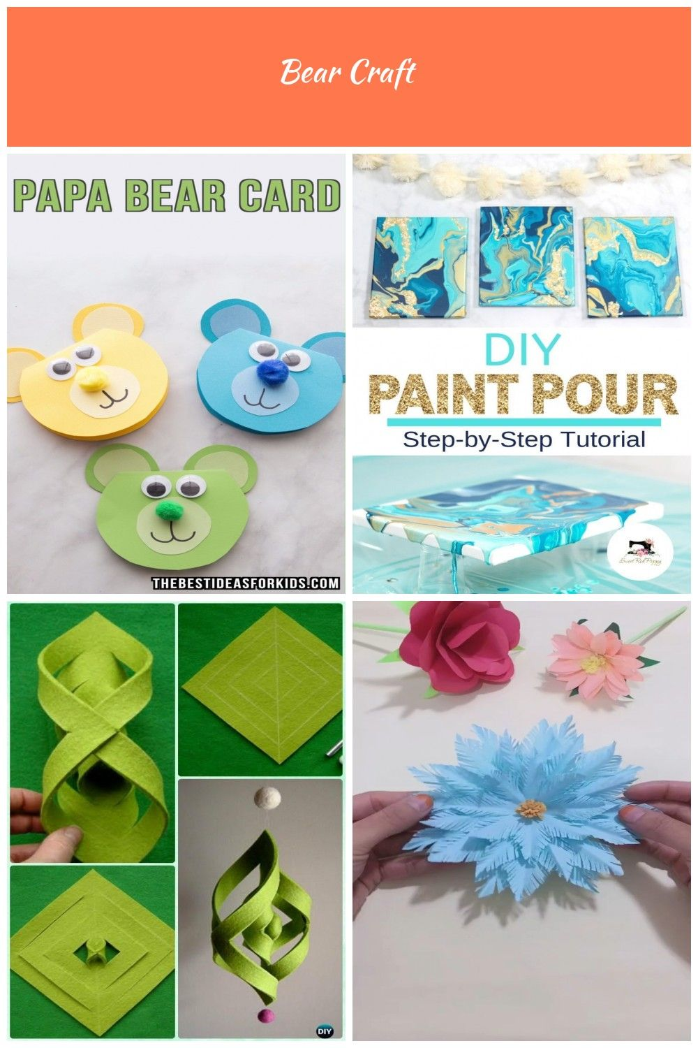 Papa Bear Card For Father S Day Including Free Bear Template This Father S Day Craft For Kids Is Perfect For Toddlers Or P Bear Crafts Crafts Preschool Crafts