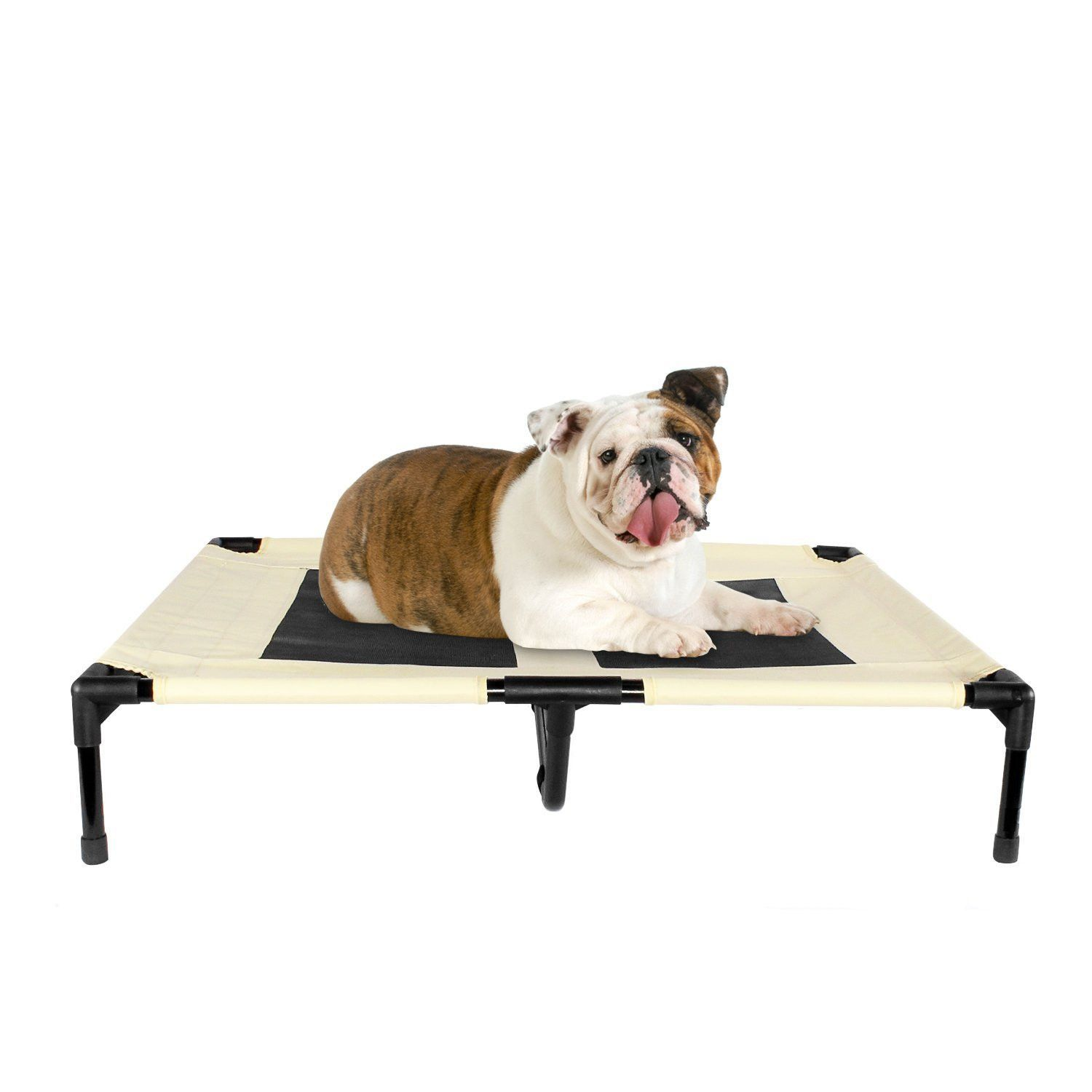 Dog Bed Elevated Indoor Outdoor Pet Portable Bed Large Beige Portable Bed Dog Bed Large Large Dog Crate