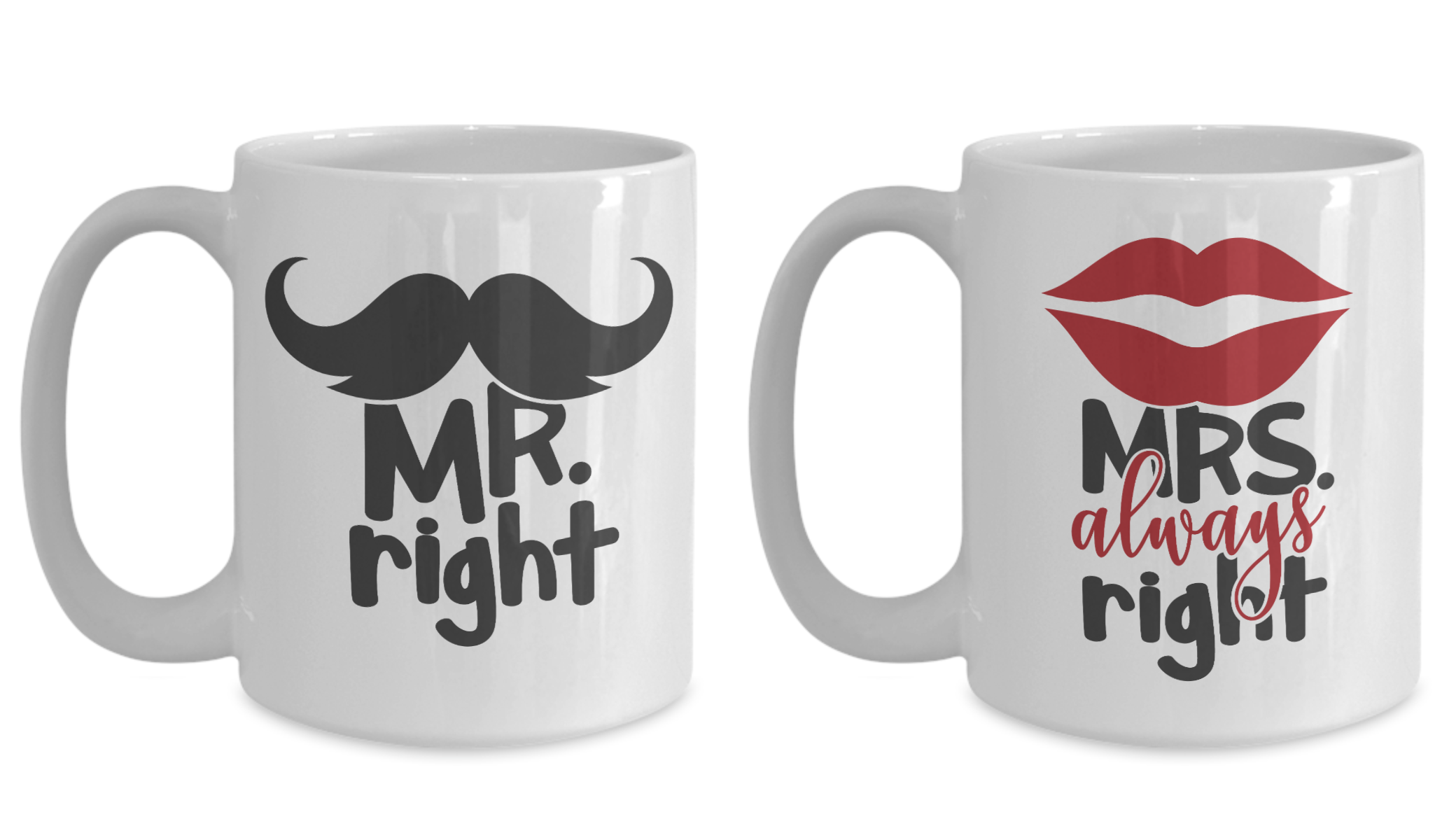 Wedding Gift Ideas For Bride And Groom Mr Right Mrs Always Right Yesecart Wedding Engagement Couples Coffee Mugs Bride Gifts Birthday Quotes Funny For Her