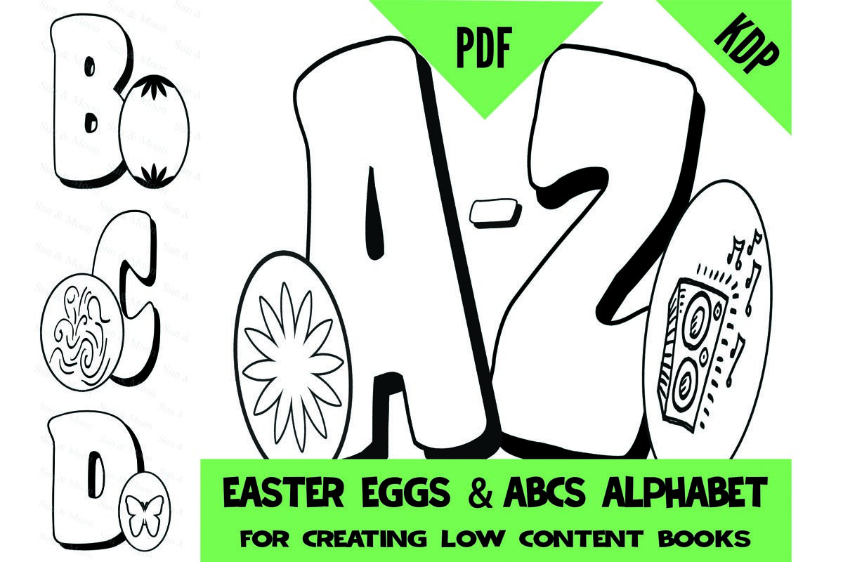 Kdp Alphabet Easter Egg Coloring Pages Sheets Pdf Abc Letters Colouring Pages For Creating A To Z Colori In 2020 Alphabet Coloring Pages Alphabet Coloring Abc Alphabet
