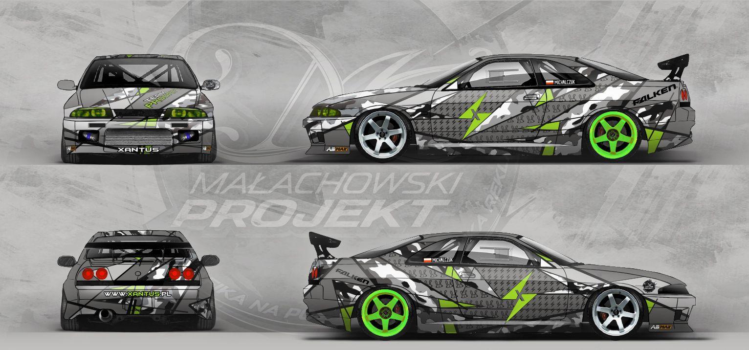 Vehicle Wrap Design Skyline R33 And The Bmw E30 For Team Prodrift Pl