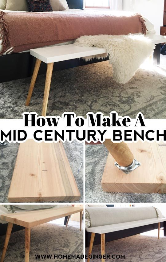 Photo of How To Make A Mid Century Modern Bench