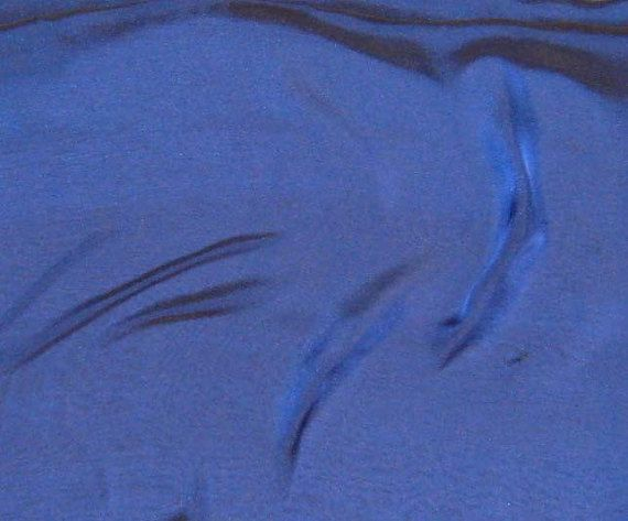 Iridescent Silk Chiffon Fabric Marine Blue