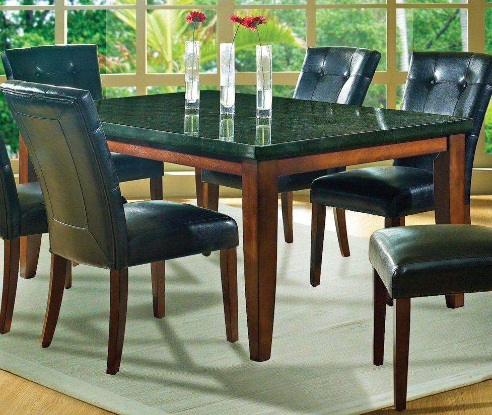 Black Granite Dining Room Table Black Granite Dining Table Set  Httplachpage  Pinterest