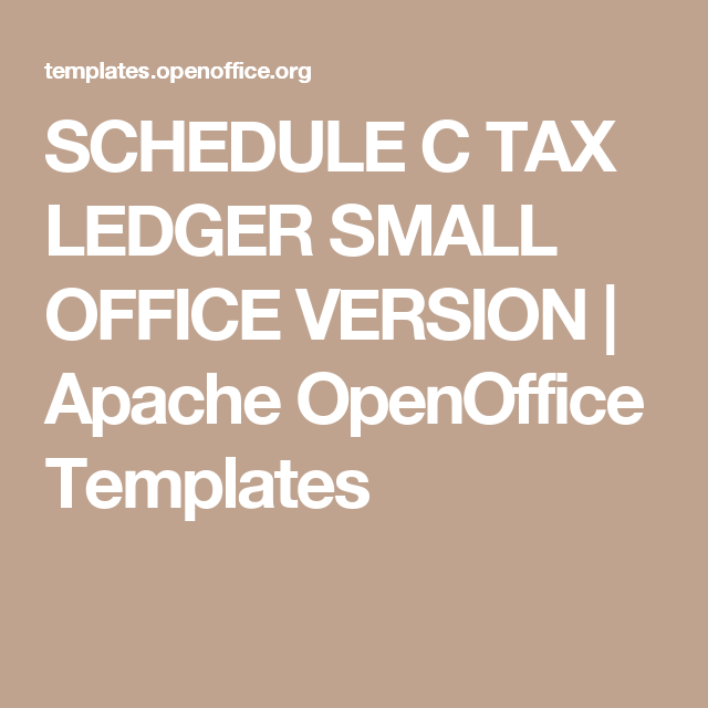 Schedule C Tax Ledger Small Office Version  Apache Openoffice