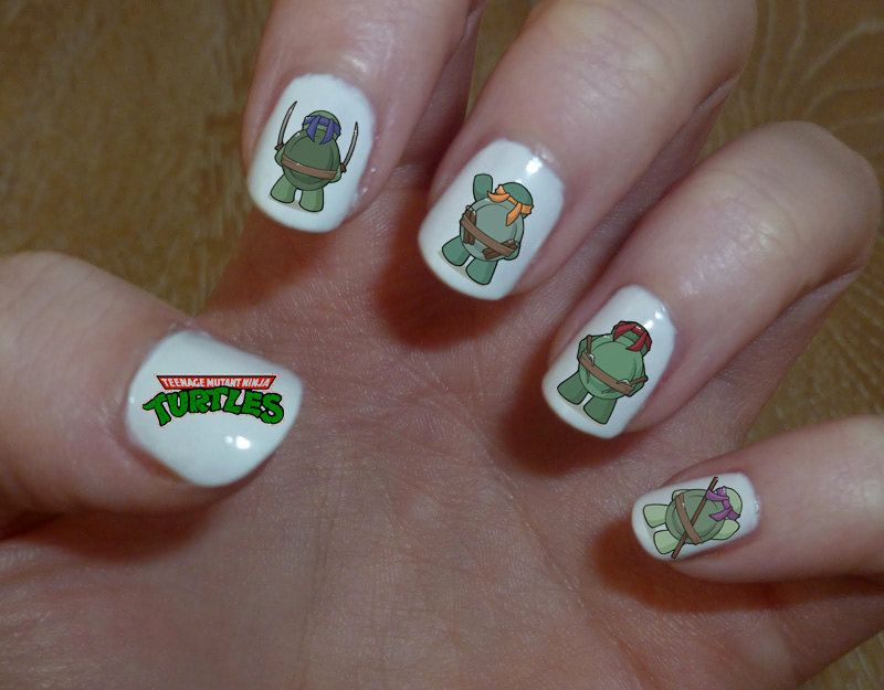 Teenage Mutant Ninja Turtles Nail Art Water Transfer Decal Water ...