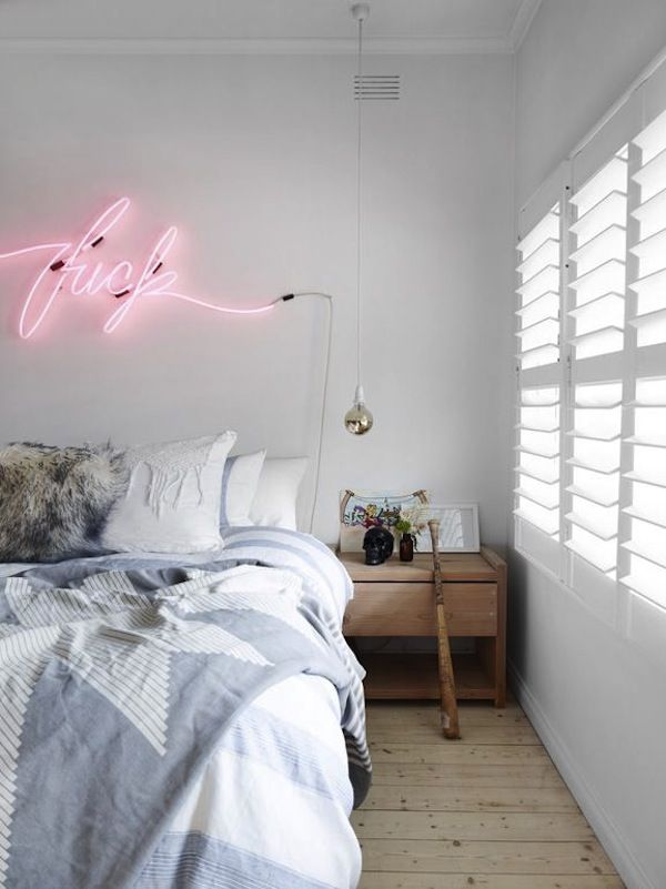 Neon Lights For Bedroom go bright with neon lights | light bedroom, bedroom wall