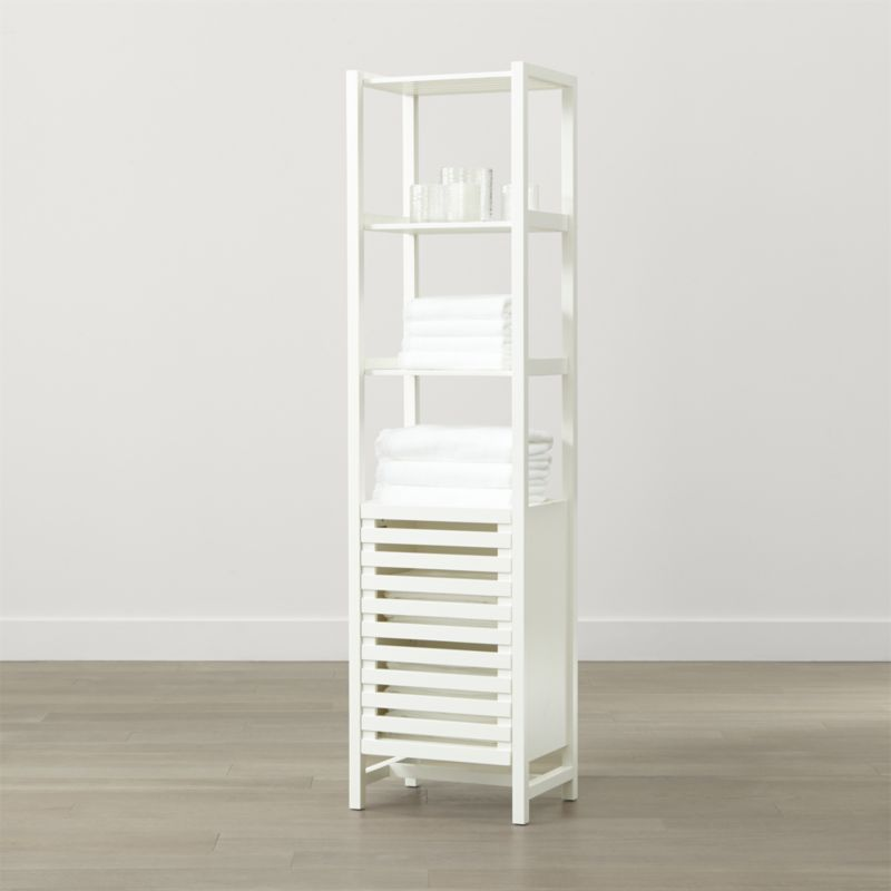 Banya White Bath Tower | Display cabinets, Storage cabinets and Crates