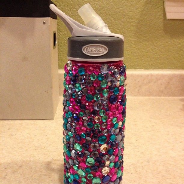 BLING YOUR WATER BOTTLE you\'ll need: BLING PACKAGE HOT GLUE GUN ...