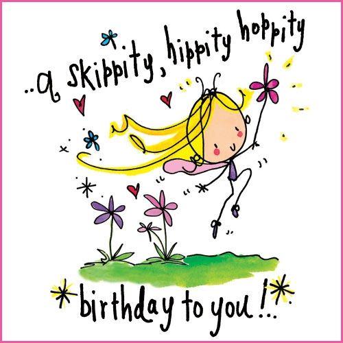 A skippity, hippity, hoppity birthday to you!