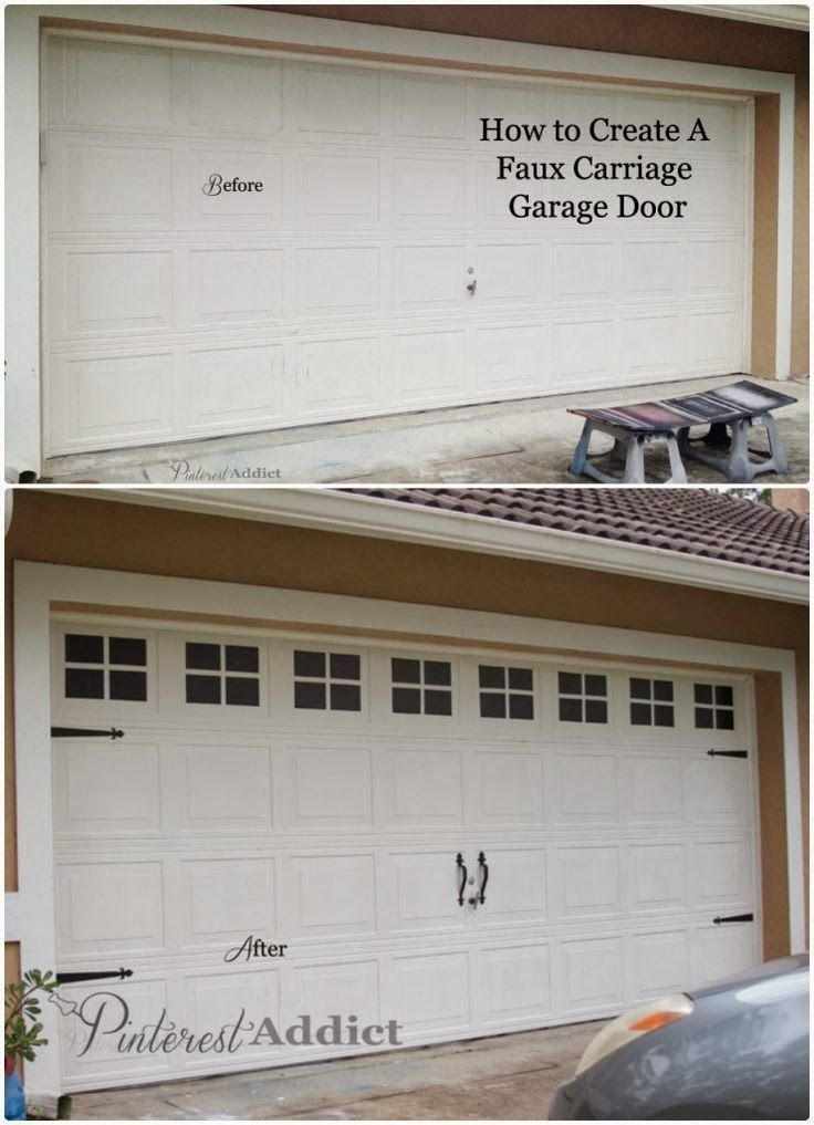 Life Of A Crazy Momma 10 Cheap Ways To Improve Curb Appeal Carriage Garage Doors Garage Doors Garage Door Makeover