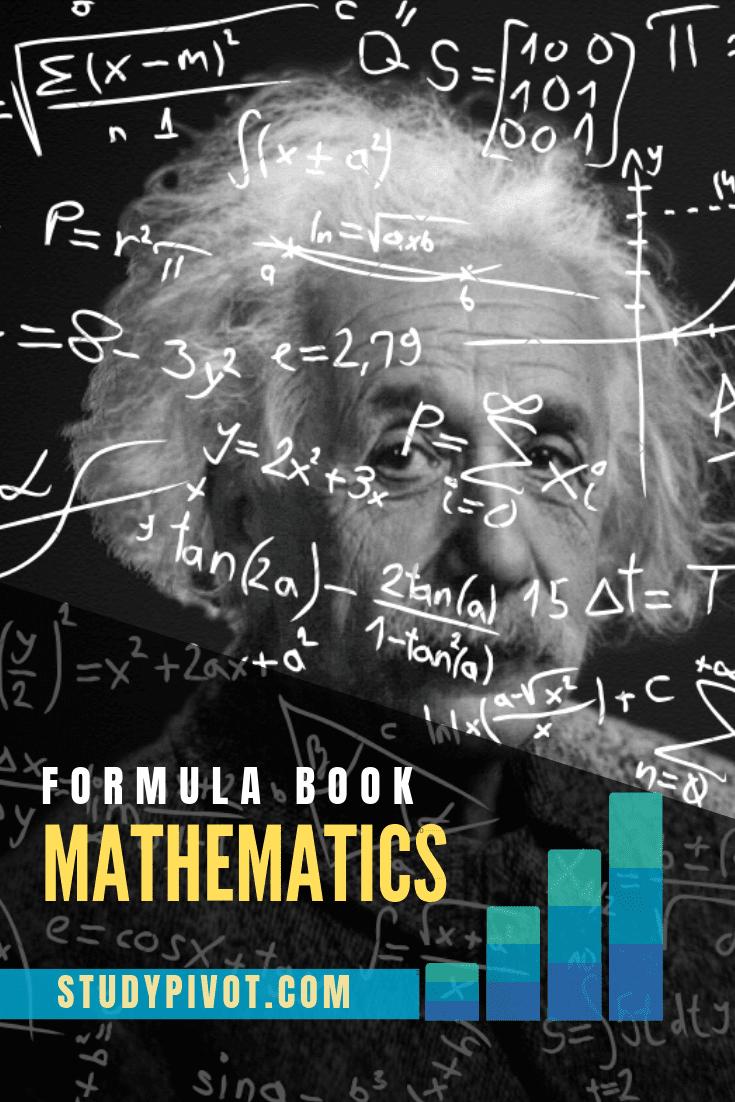 Mathematics Formula sheet pdf Book Free Download Maths