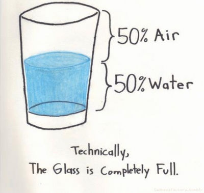 El vaso siempre está lleno...