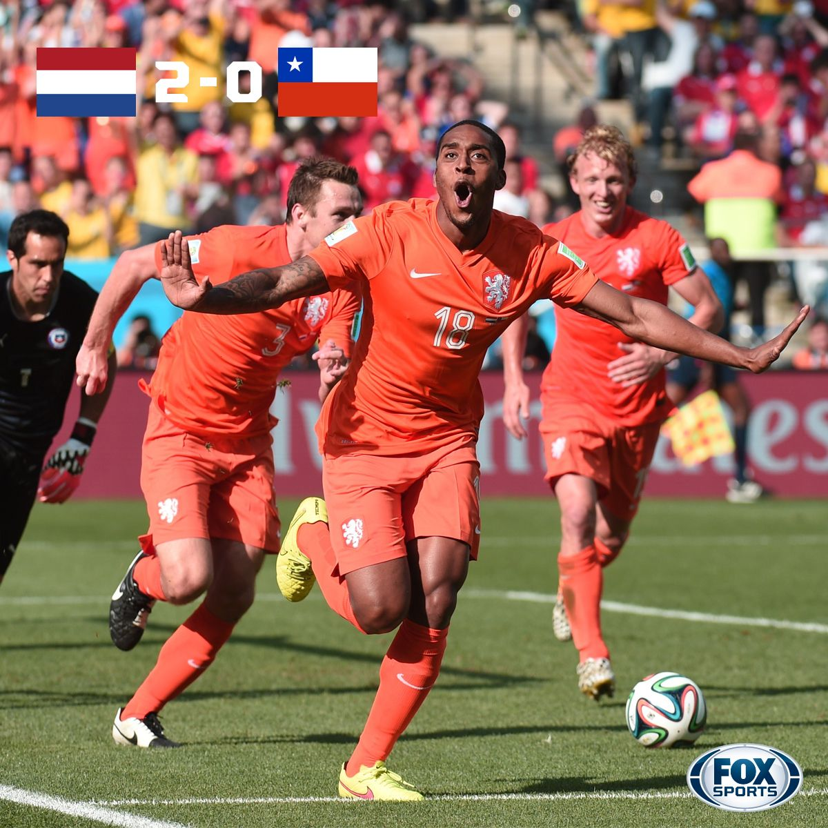 2014 World Cup Netherlands top Group B, Chile finishes 2nd